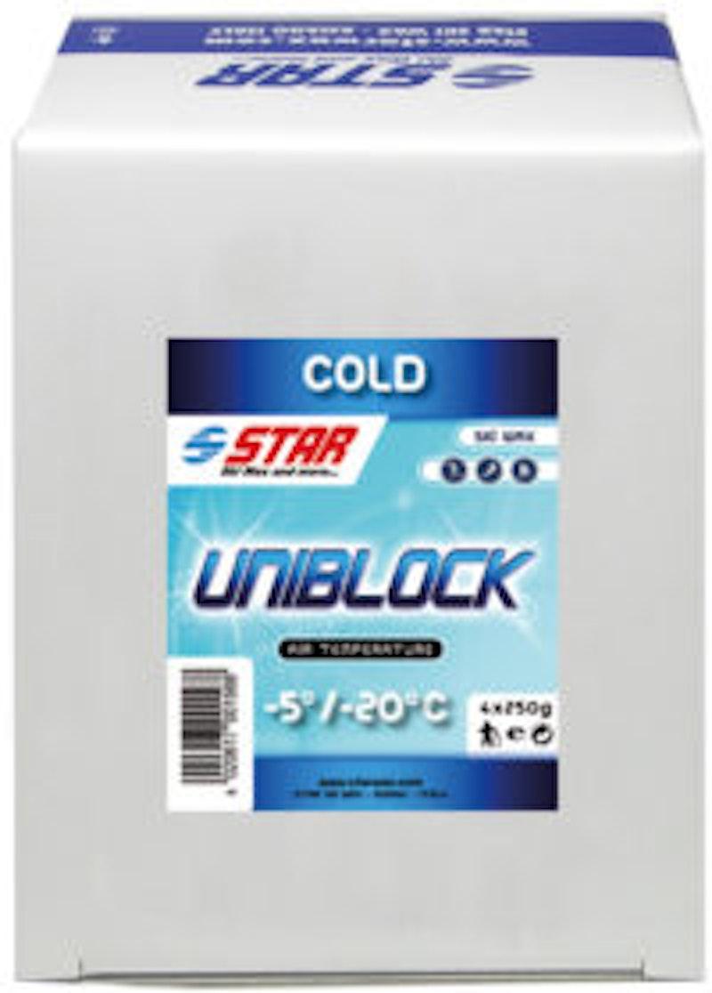 Jemný vosk určený na tréninkové využití Star Ski Wax Uniblock Minus 1 kg
