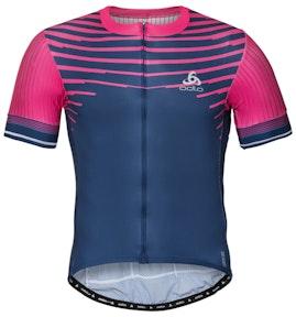 Odlo  ZEROWEIGHT CERAMICOOL PRO Full-Zip Short-Sleeve Cycling Jersey